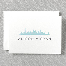 Chicago Skyline: Letterpress Folded Note Card