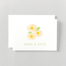 Daisy: Letterpress Folded Note Card