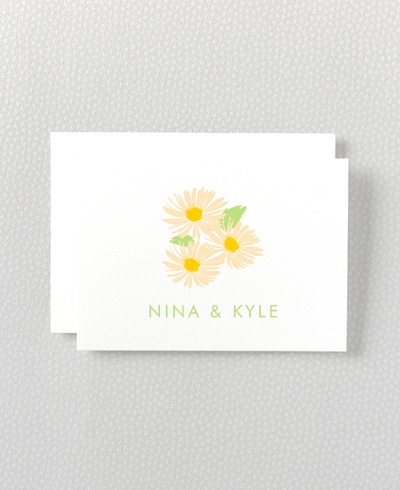 Daisy Letterpress Folded Note Card