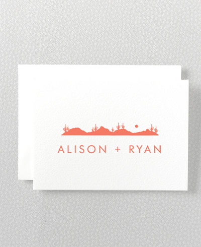 Desert Skyline Folded Note Card