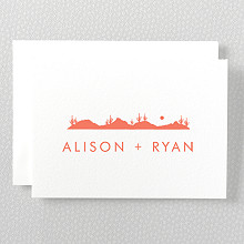 Desert Skyline---Folded Note Card