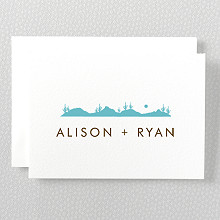 Desert Skyline - Letterpress Folded Note Card