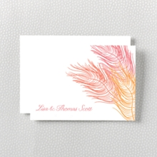 Feathers: Letterpress Folded Note Card