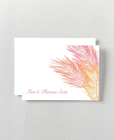 Feathers Letterpress Folded Note Card
