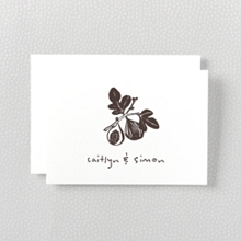 Figs: Letterpress Folded Note Card