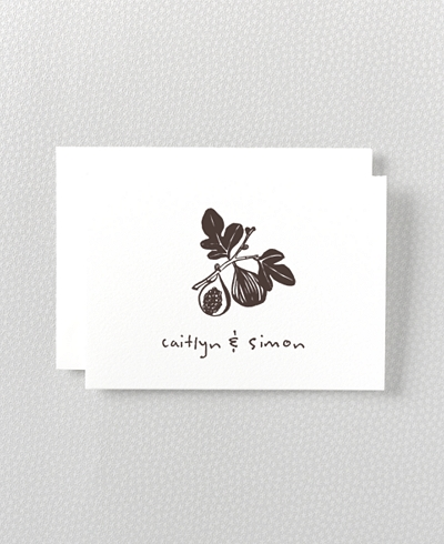 Figs Letterpress Folded Note Card