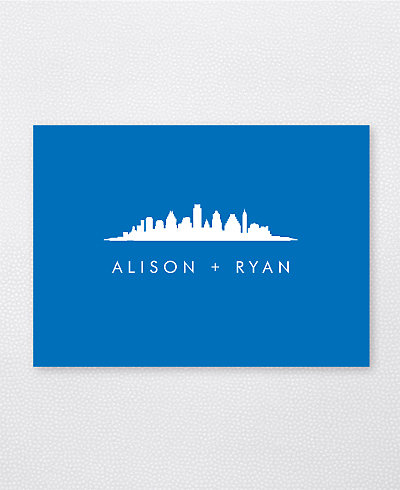 Austin Skyline Folded Note Card