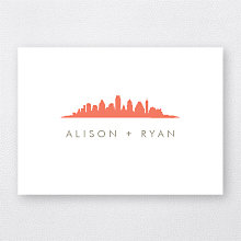 Austin Skyline---Folded Note Card