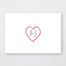 Big Day Hearts---Letterpress Folded Note Card