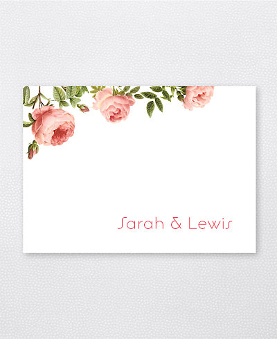 Classic Rose Folded Note Card