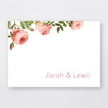 Classic Rose - Folded Note Card