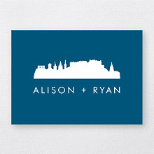 Edinburgh Skyline---Folded Note Card