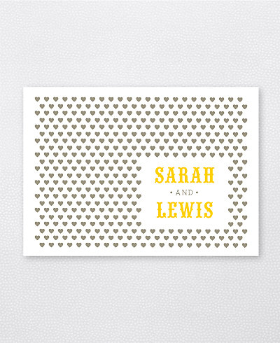Lemonade Stand Letterpress Folded Note Card