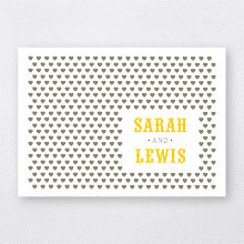 Lemonade Stand: Letterpress Folded Note Card