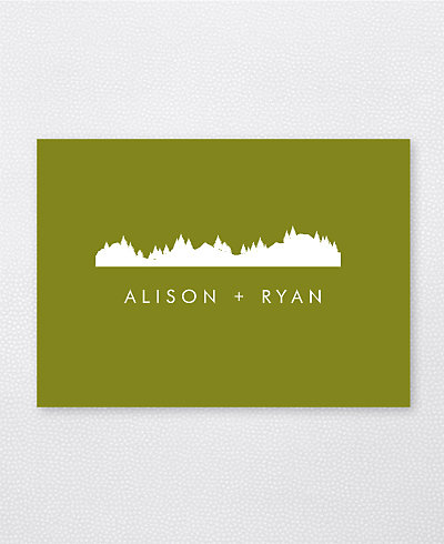 Mountain Skyline Folded Note Card