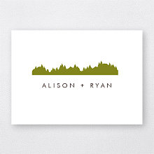 Mountain Skyline---Folded Note Card