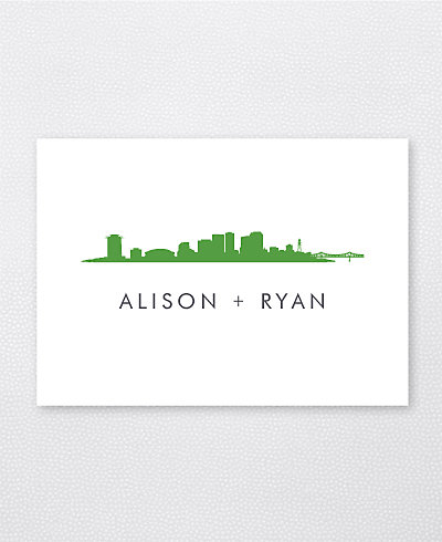 New Orleans Skyline Folded Note Card