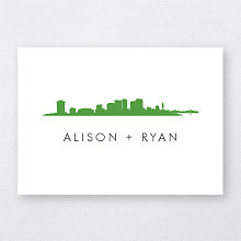 New Orleans Skyline: Folded Note Card