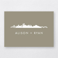 Portland Skyline: Folded Note Card