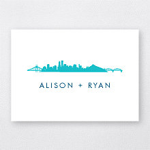 Portland Skyline---Folded Note Card