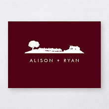 Wine Country Skyline---Folded Note Card