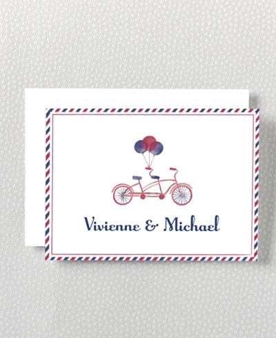 French Bicycle Folded Note Card