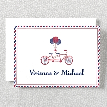 French Bicycle---Folded Note Card