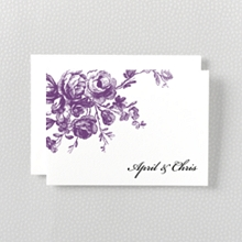 Gothic Rose---Letterpress Folded Note Card
