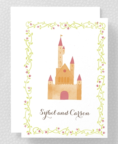 Happily Ever After Folded Note Card