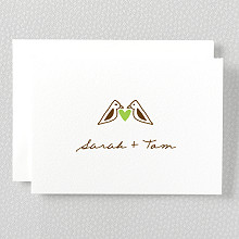 Home Sweet Home: Letterpress Folded Note Card
