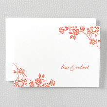Honeysuckle - Letterpress Folded Note Card