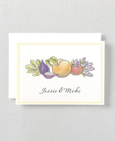 Lavender Harvest Folded Note Card