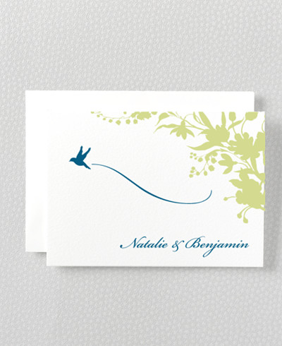 L'Oiseau Folded Note Card