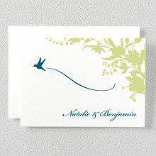 L'Oiseau - Letterpress Folded Note Card