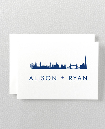 London Skyline Folded Note Card