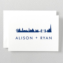 London Skyline---Folded Note Card