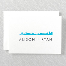 Los Angeles Skyline: Letterpress Folded Note Card