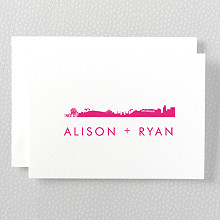 Los Angeles Skyline: Folded Note Card
