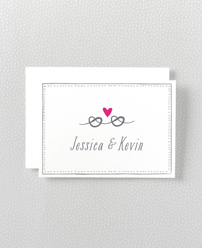 Love Knot Letterpress Folded Note Card