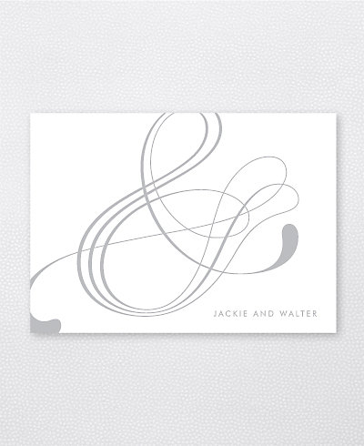 Atlantic Foil/Letterpress Folded Note Card