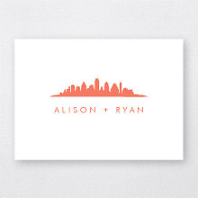 Austin Skyline: Letterpress Folded Note Card