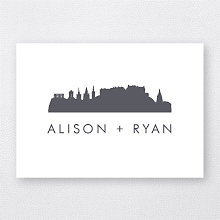 Edinburgh Skyline: Letterpress Folded Note Card
