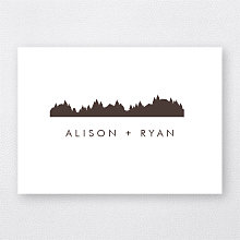 Mountain Skyline - Letterpress Folded Note Card