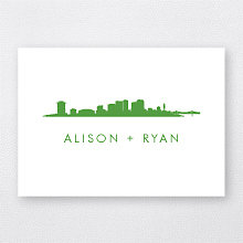 New Orleans Skyline: Letterpress Folded Note Card