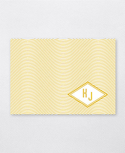 Parker Foil/Letterpress Folded Note Card