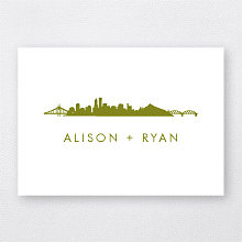 Portland Skyline: Letterpress Folded Note Card