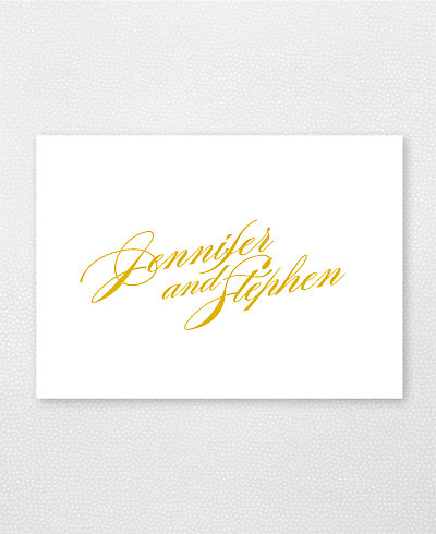 Symphony Foil/Letterpress Folded Note Card