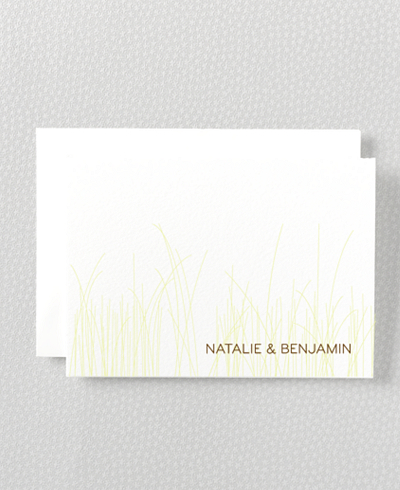 Meadow Letterpress Folded Note Card