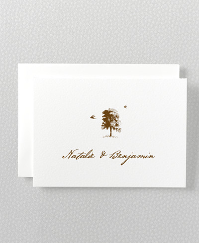Naturalist Letterpress Folded Note Card