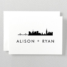 New York City Skyline---Letterpress Folded Note Card